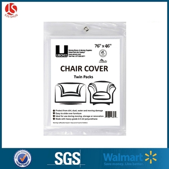 "Set of 2 (76x46"") Chair Covers 2 MIL Heavy Duty Polyethylene to Protect Items From Dust Dirt"