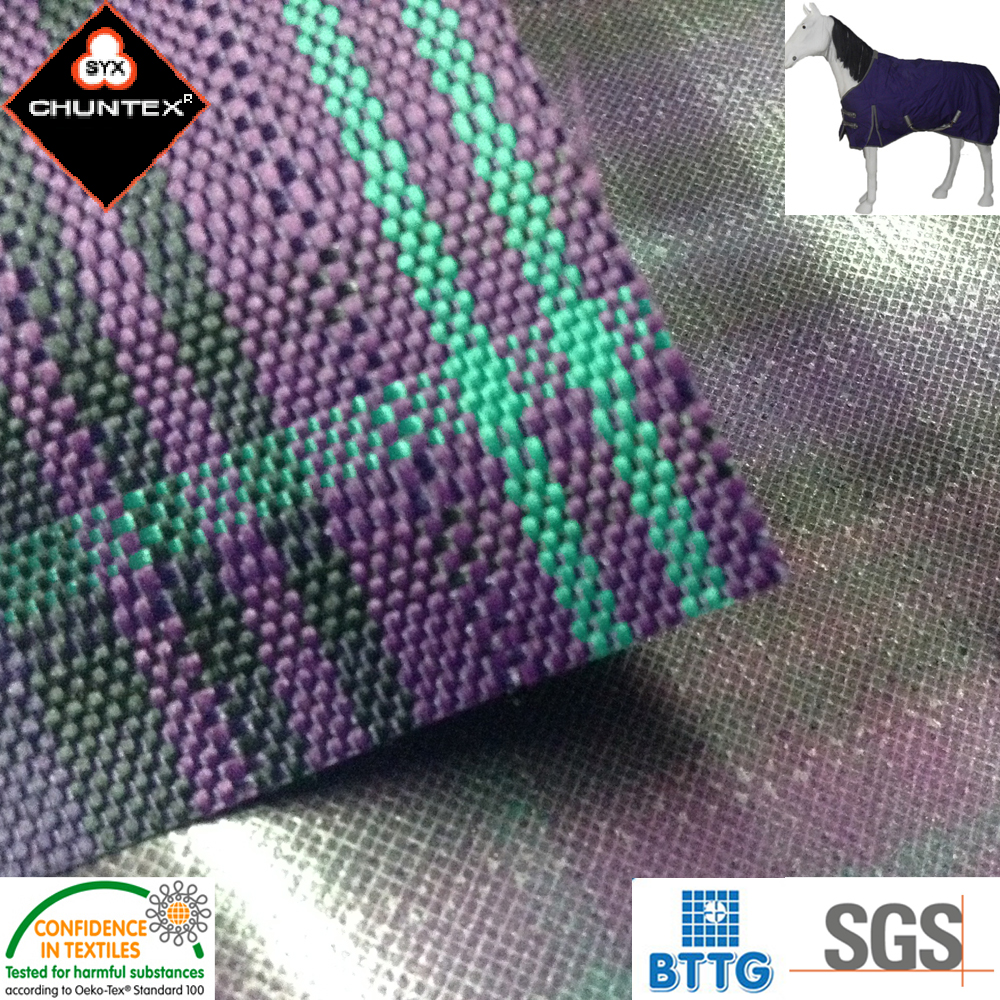 1680D Polyester Oxford Horse Blanket Fabric with PU Coating