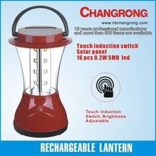 Chinese solar lantern camping rechargeable lantern 6V battery light