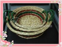 wholesale 100% handcraft fruit mango fruit baskets with handle