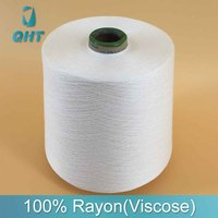 100% spun polyester viscose rayon yarn price manufacturer in china