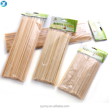 Wholesale High Quality Kitchen BBQ Flexible Disposable Bamboo Skewer Sticks with Custom Logo