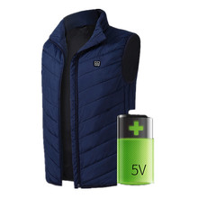 5V 7.4V Carbon Usb Rechargeable Electric Battery Heated Body Warmer Clothes Vest