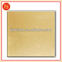 Golden mirror and sand blasted stainless steel sheet