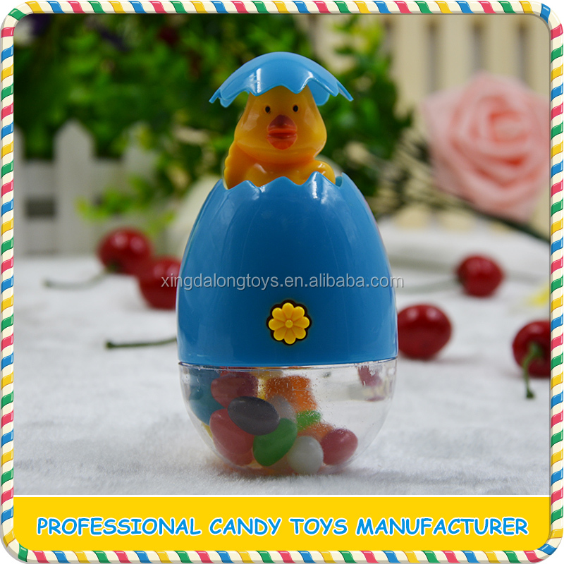 Cute Kinder surprise eggs candy toy with press-out chick