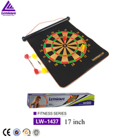 "Fitness fashion sports top brand soft darts plate 17"" scroll type magnetic dart board"