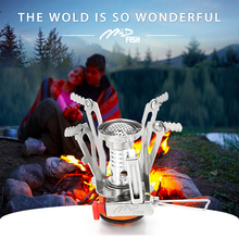 Ultralight Windproof Portable Collapsible 3000W Titanium Alloy Mini Gas Butane Cookware Outdoor Backpacking Camping Stove