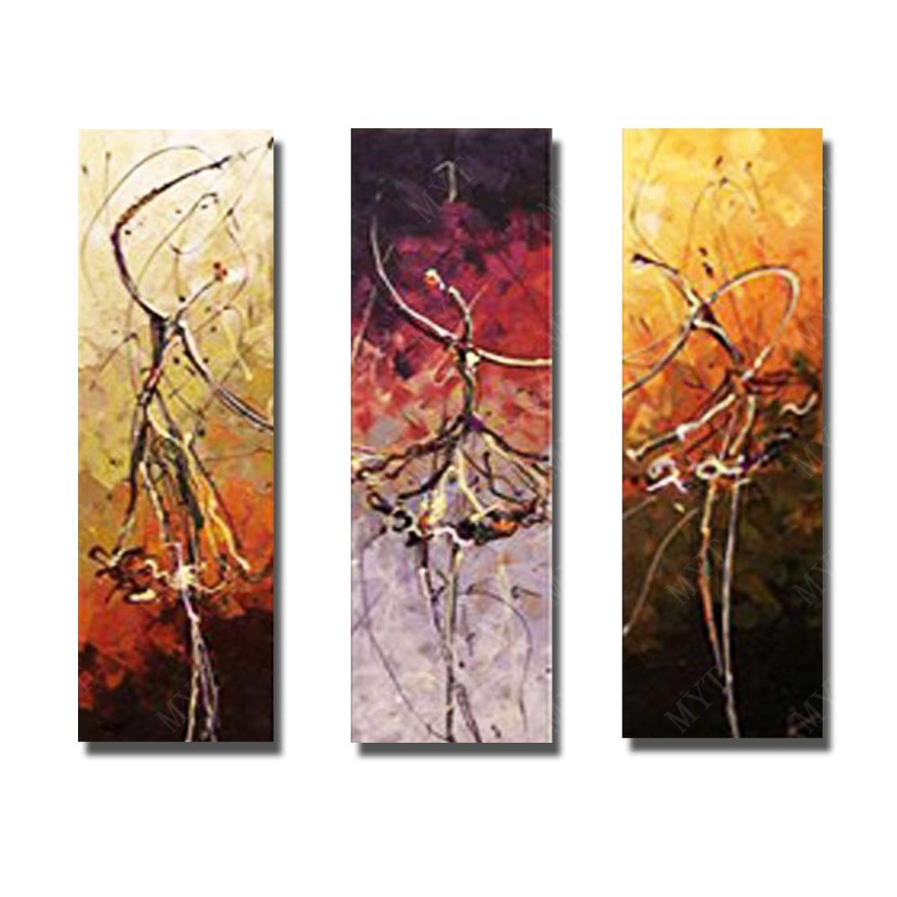 New arrive free design oil painting 2016 multi panel canvas fabric 3 panel oil painting