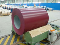 hot dipped color coated aluminium zinc coil for roofing sheet and building construction materials