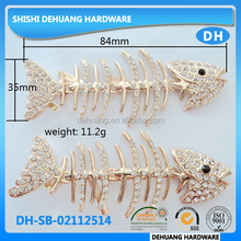 hot sale fishbone shaped metal sandal shoe chain, Shoe accessories