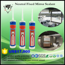Good Adhesion Non Corrosion Neutral Curing 100% fixed Mirror Silicone Sealant