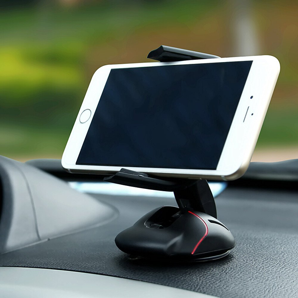 Mouse design 360 rotating cell phone mount with Sticky gel dashboard pad