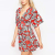 Chic Deep V Kimono Dresses For Women Online Shopping,Multicolor Kimono Dress In Floral Print