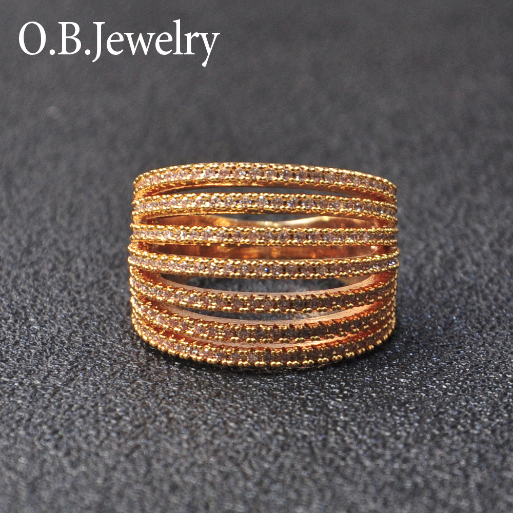 OB Jewelry-The Newest Arrival Finger Ring Jewelry Wholesale Customized Gold Plated Jewelry Finger Ring For Women