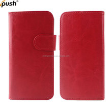 PU leather flip wallet cover with card slot magnet button case for iphone7