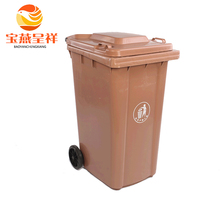 outdoor fiberglass green painted eco dustbin