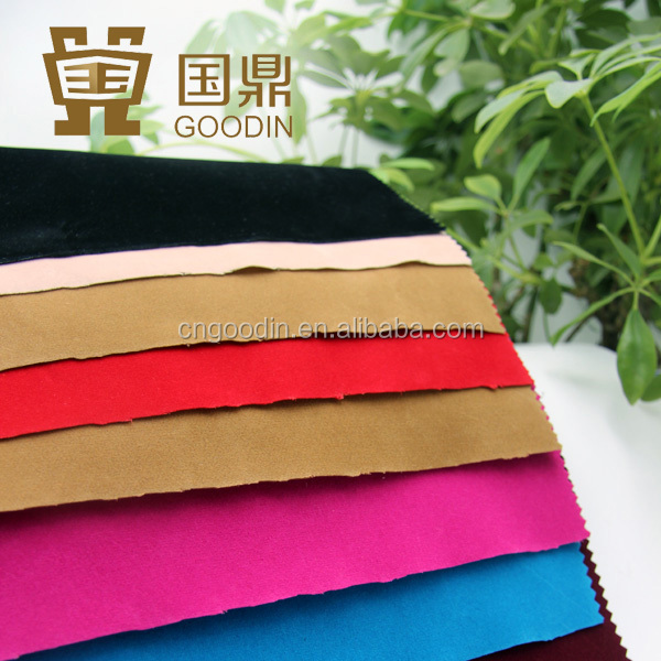 textile fabric yarn panne velvet flocking fabric for shoes