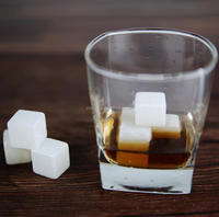 2016 new product square Shape white soapstone whiskey ice cubes for chilling whiskey