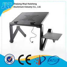 The cheapest adjustable folding portable laptop desk table with usb cooling fans and mouse pad