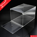 Clear Plexiglass Shoe Box Plastic With Magnet
