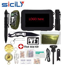 Emergency Survival Kit 40-In-1 Molle Pouch