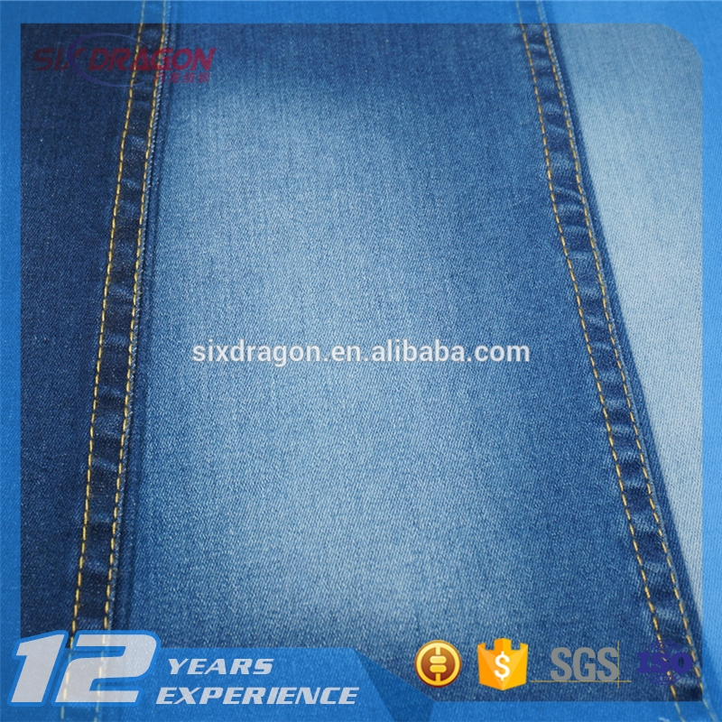 stone wash cotton spandex 3/1 stwill denim fabric jean material