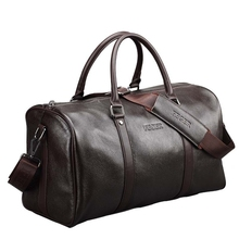 Best Selling Airline Company Vender Duffel Bag Genuine Leather big Travel Bag