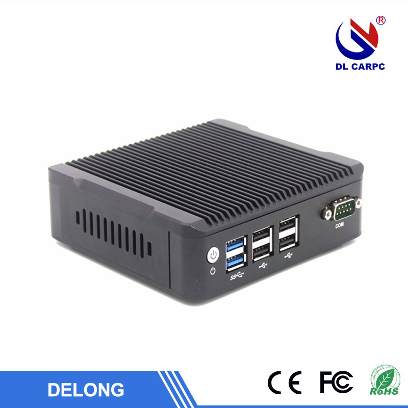 Fanless mini pc i5 i7 mini itx case fanless desktop computer support 128gb SSD 4gb ram for Win10