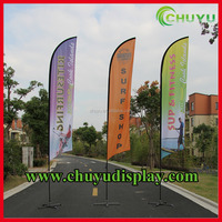feather flag for promotional activity,double side printing beach feather flag,high quality promotional feather flying banner