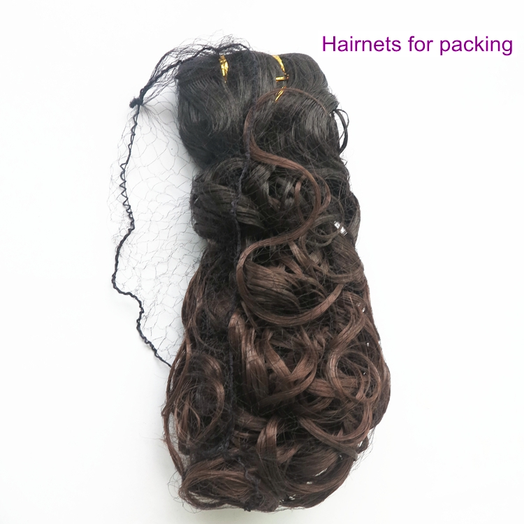 100 pcs/lot Black White Nylon Hair net Invisible Soft Elastic Lines Big Net Hairnets for packing wigs and hair extension