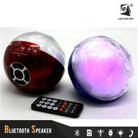 Portable led football portable wireless music sound system speaker box
