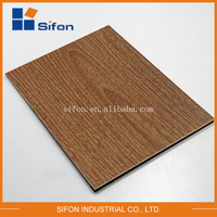 2015 High Quality New Design Hot Selling Matte Light Walnut Wooden Finish Acp Panel