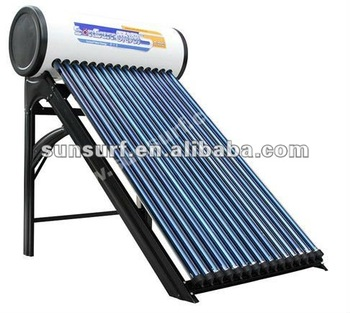 Integrated Hight Pressure compact Evacuated tube Solar Hot Water Heater with Heat Pipe