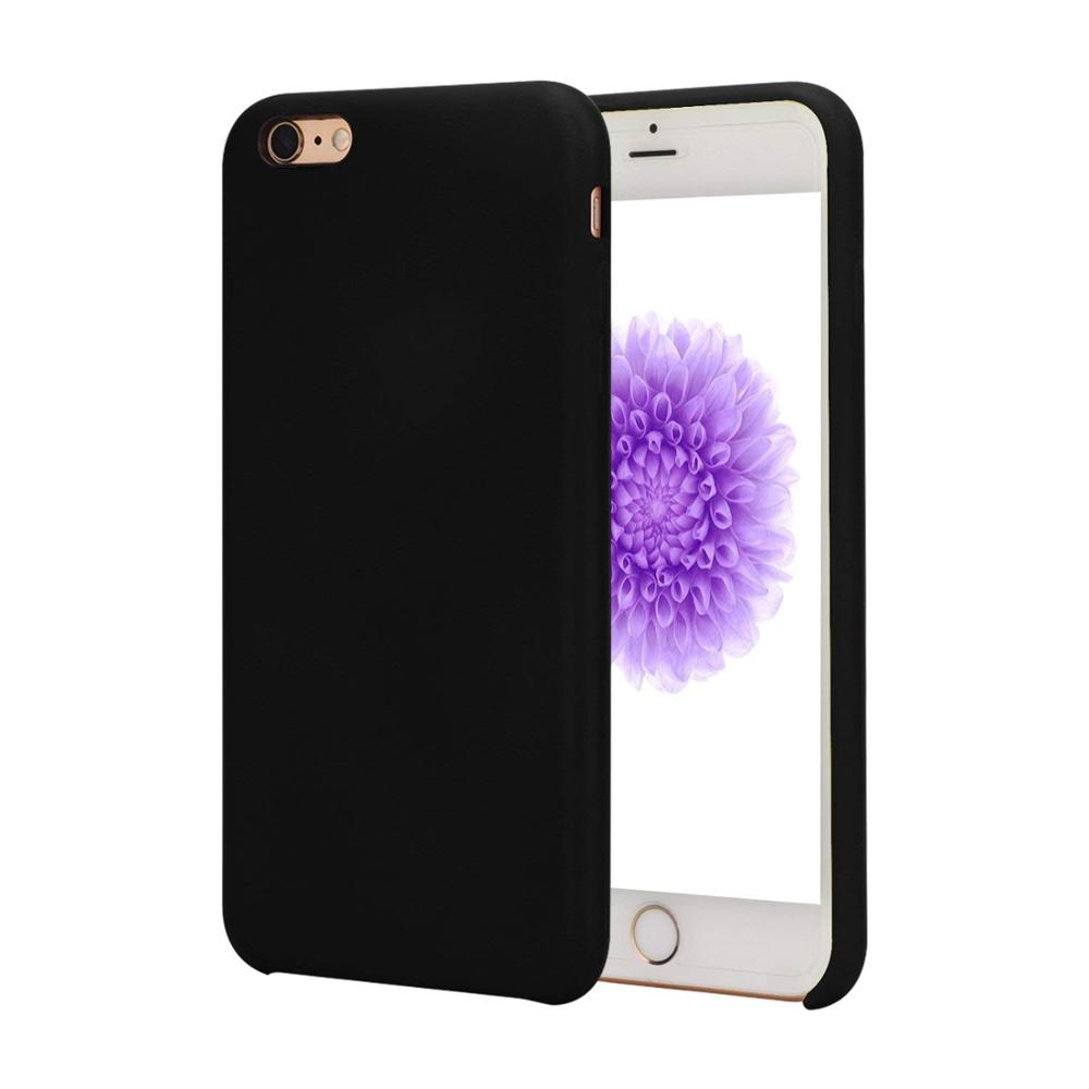 Factory price liquid silicone material anti <strong>shock</strong> Black silicone case for iphone 6