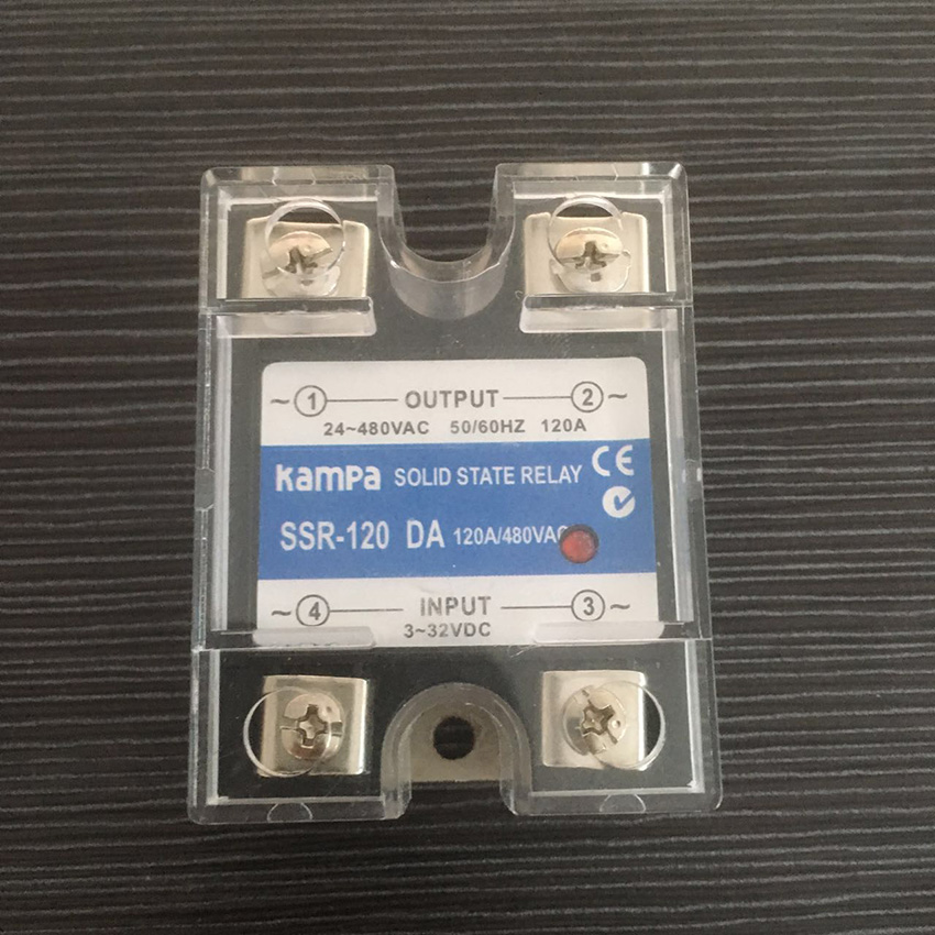 120DA SSR Control 3-32V DC output 24~480VAC High voltage single phase AC solid state relay