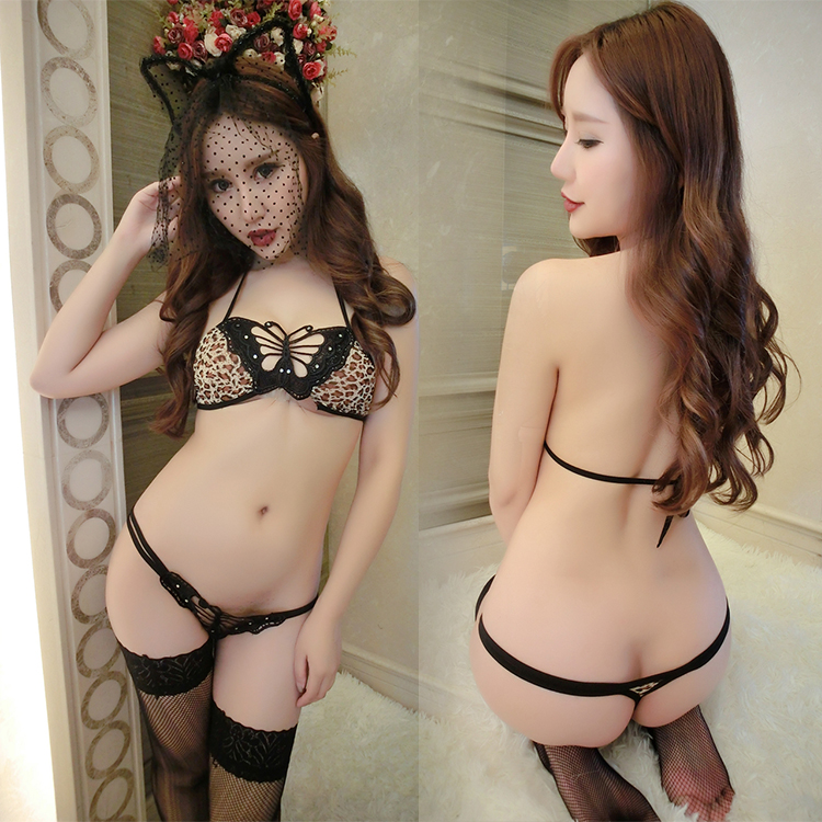 China Supplier High Quality Women Open Hot Sexy Girl Nice Modal Lace Mature Teenager butterfly Leopard Printed Sex Underwear