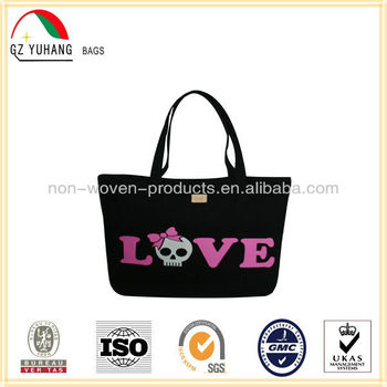 ROLFBLEU Black canvas tote shopping bag