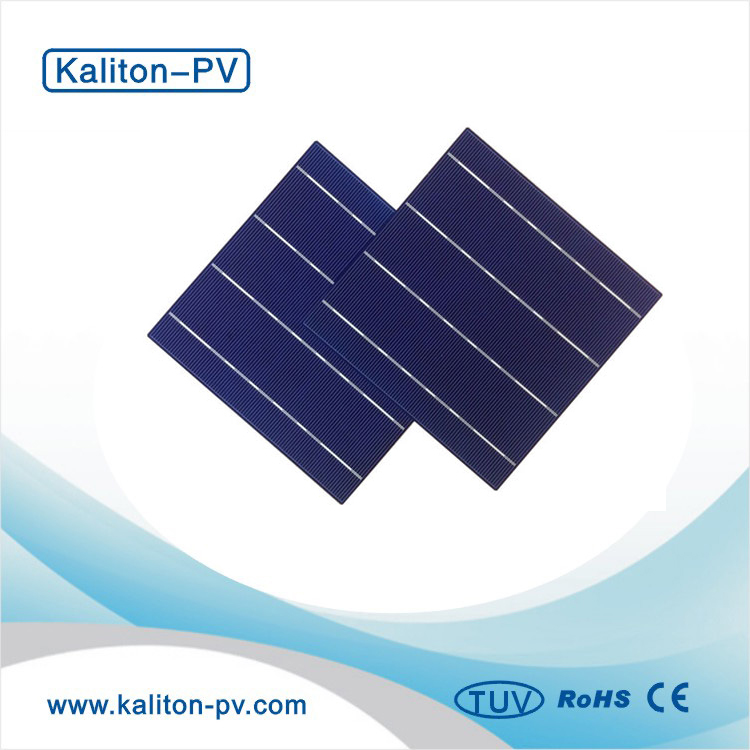 Cheap B Grade 17.4% 4BB 156X156mm Poly Crystalline Silicon Solar Cell in Stock