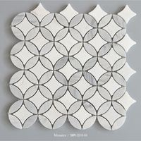 Decorative Stone White Mosaic Mother Of Pearl Tiles