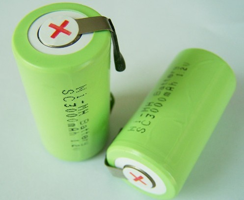 1.2V nimh battery sc 3000mAh with tabs