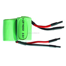 1/2AA ER14250 3.6V 1200mAh Li-SOCL2 lithium battery for water meter