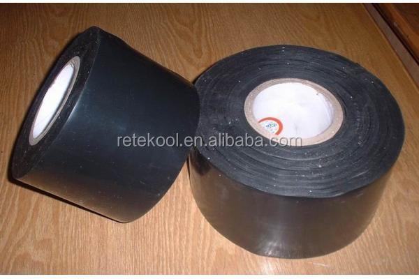 black Air Conditioner Pipeline Wrapping PVC Tape