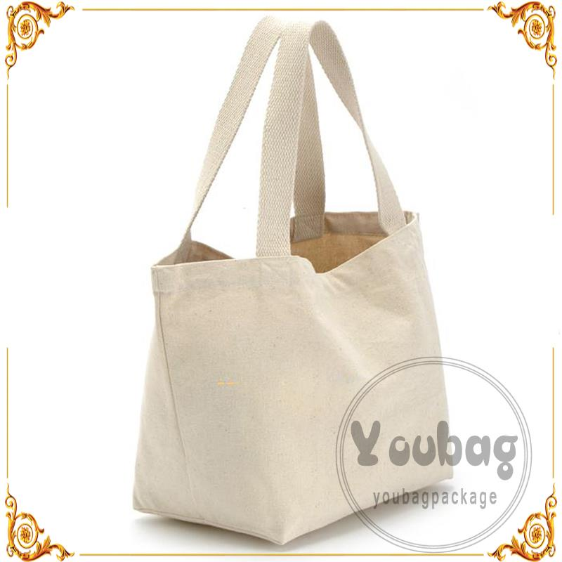 Custom Made Promotional Cheap blank plain cotton tote bag With Logo Print