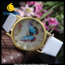 attractive hot sale fashion pretty butterfly face design laides wrist watches(WJ-3134)