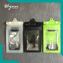 Rotatable mobile phone pvc waterproof bag waterproof phone case with headphone jack