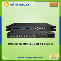 Chinese Audio and Video SD Encoder , MPEG-2 to IP Encoder