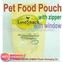 Plastic Dog Snack Bag / Pet Food Packaging/Zipper Pet Food Bag With Bag Logo