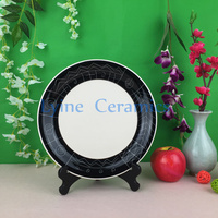 2016 new product customed print round melamine partly ceramic plate