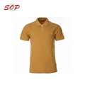 Button Collar Embroidered Custom Polo Shirt Polyester