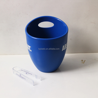 Plastic ice bucket and tong Plastic ice bucket supplier